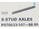 Set No: 970033  Name: Black 8-Stud Axles (Pack of 50)