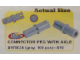 Set No: 970038  Name: Connector Peg With Axle (Pack of 100)
