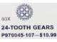 Set No: 970045  Name: 24 Tooth Gear (Pack of 60)