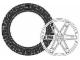 Set No: 970047  Name: Large Tire and Hub (2 tires, 2 hubs)