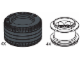 Set No: 970111  Name: Large Lawn Tire & Hub (4 tires, 4 hubs)