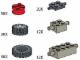 Set No: 970684  Name: Wheels (Tires, hubs, axle plates and bricks)
