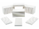 Set No: 991229  Name: White Plates Pack (Pack of 25)