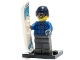 Set No: col05  Name: Snowboarder Guy, Series 5 (Complete Set with Stand and Accessories)