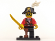 Set No: col08  Name: Pirate Captain, Series 8 (Complete Set with Stand and Accessories)