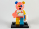 Set No: col19  Name: Bear Costume Guy, Series 19 (Complete Set with Stand and Accessories)