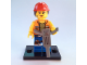 Set No: coltlm  Name: Gail the Construction Worker, The LEGO Movie (Complete Set with Stand and Accessories)