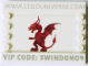 Set No: lup04  Name: Universe Promo 2009 Swindon - Dragon