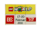 Set No: lwp04  Name: LEGO World Denmark Puzzle Promo 2011