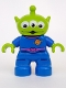 Minifig No: 47205pb022  Name: Duplo Figure Lego Ville, Toy Story Alien