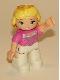 Minifig No: 47394pb147a  Name: Duplo Figure Lego Ville, Disney Princess, Sleeping Beauty, Oval Eyes