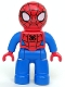 Minifig No: 47394pb192  Name: Duplo Figure Lego Ville, Spider-Man