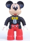 Minifig No: 47394pb194  Name: Duplo Figure Lego Ville, Mickey Mouse, Jacket, Vest and Bow Tie