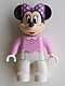 Minifig No: 47394pb195  Name: Duplo Figure Lego Ville, Minnie Mouse, Bright Pink Top