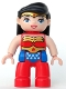 Minifig No: 47394pb212  Name: Duplo Figure Lego Ville, Wonder Woman