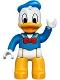 Minifig No: 47394pb217  Name: Duplo Figure Lego Ville, Donald Duck