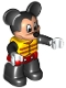 Minifig No: 47394pb219  Name: Duplo Figure Lego Ville, Mickey Mouse, Life Jacket