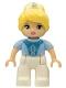 Minifig No: 47394pb240  Name: Duplo Figure Lego Ville, Disney Princess, Cinderella, Tiara