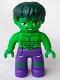 Minifig No: 47394pb247  Name: Duplo Figure Lego Ville, Hulk