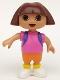 Minifig No: 5473  Name: Duplo Figure Dora the Explorer, Dora
