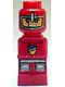 Minifig No: 85863pb003  Name: Microfigure Lava Dragon Knight Red