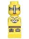 Minifig No: 85863pb004  Name: Microfigure Lava Dragon Knight Yellow