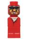 Minifig No: 85863pb007  Name: Microfigure Ramses Pyramid Adventurer Red