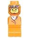 Minifig No: 85863pb008  Name: Microfigure Ramses Pyramid Adventurer Orange (Without Belt)