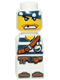 Minifig No: 85863pb019  Name: Microfigure Pirate Plank Pirate White