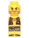 Minifig No: 85863pb020  Name: Microfigure Pirate Plank Pirate Yellow