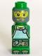 Minifig No: 85863pb025  Name: Microfigure Magma Monster Green