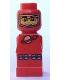 Minifig No: 85863pb043  Name: Microfigure Meteor Strike Astronaut Red
