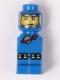Minifig No: 85863pb044  Name: Microfigure Meteor Strike Astronaut Blue