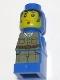 Minifig No: 85863pb049  Name: Microfigure Ramses Return Adventurer Blue