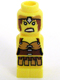 Minifig No: 85863pb072  Name: Microfigure Lego Champion Female Yellow Warrior