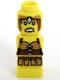 Minifig No: 85863pb072  Name: Microfigure Lego Champion Female Yellow Warrior