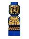 Minifig No: 85863pb085  Name: Microfigure Mini Taurus Gladiator Blue