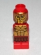 Minifig No: 85863pb087  Name: Microfigure Mini Taurus Gladiator Red