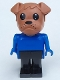 Minifig No: Fab2k  Name: Fabuland Figure Bulldog 1