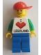 Minifig No: LLP006  Name: LEGOLAND Park Male, I Brick LEGOLAND Top