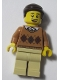 Minifig No: LLP015  Name: LEGOLAND Park Male with Dark Brown Hair, Medium Nougat Torso Argyle Sweater, Tan Legs