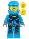 Minifig No: ac005  Name: Alien Defense Unit Soldier 2 - Dark Bluish Gray Hips