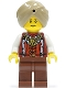 Minifig No: adv053b  Name: Snake Charmer, Reddish Brown Eyebrows