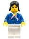 Minifig No: air010  Name: Airport - Blue with Scarf, Black Female Hair