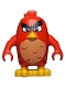 Minifig No: ang005  Name: Red, Annoyed, Left Eyebrow Raised