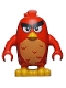 Minifig No: ang008  Name: Red, Left Eyebrow Raised