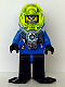 Minifig No: aqu028  Name: Hydronaut 3 with Black Flippers