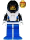 Minifig No: aqu029  Name: Aquanaut 3 with Blue Flippers