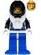 Minifig No: aqu029  Name: Aquanaut 3 with Blue Flippers