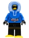Minifig No: arc006  Name: Arctic - Blue, Blue Hood, Black Legs, Snowshoes